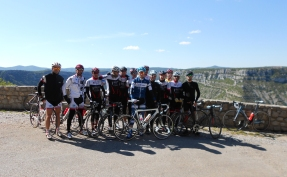 A great winter's ride with the local cycling club to the Cirque du Navacelles.